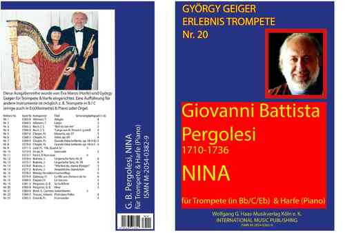 Pergolesi,Giovanni Battista 1710-1736; Nina, for Trumpet B /C /Es,