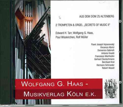 CD : 2 TROMPETTES ET ORGUE COLOGNE, Vol.1, de la cathédrale d'Altenberg.