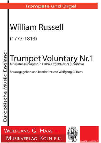 Russell, William 1777-1813;  -Trumpet Voluntary No.1 for (natural-)Trumpet in C/B/A, organ /piano