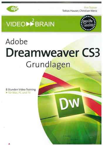 Video2Brain Adobe Dreamweaver CS3 - Profi-Workshops Video-Training DVD-ROM PC