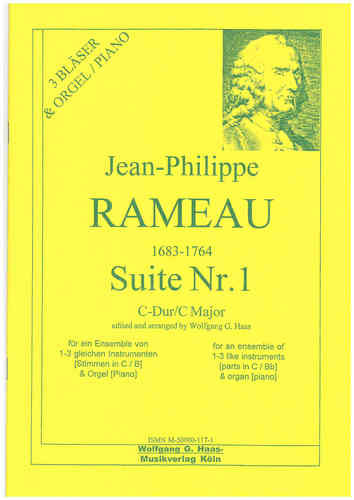 Rameau, Jean-Philippe 1683-1764 Suite Nr.1 in C Major für 3 Trompeten, Orgel/ Klavier