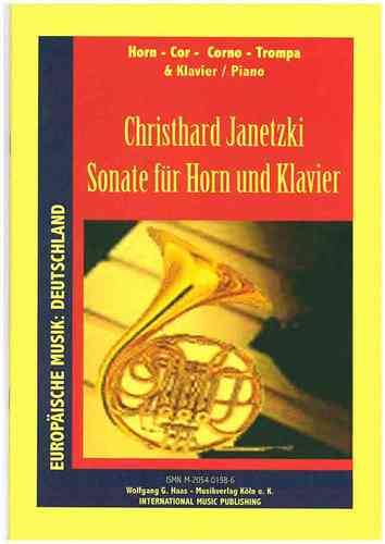 Janetzki,Christhard *1950 -Sonate for Horn, Piano