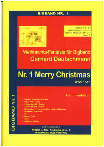 Deutschmann, Gerhard; Merry Christmas, DWV 151b for Bigband