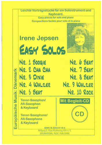 Easy solos; Jepsen,Irene; PLAY ALONG Tenor-Saxophon (Alt-Saxophon) & Keyboard