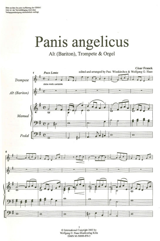 spartito panis angelicus