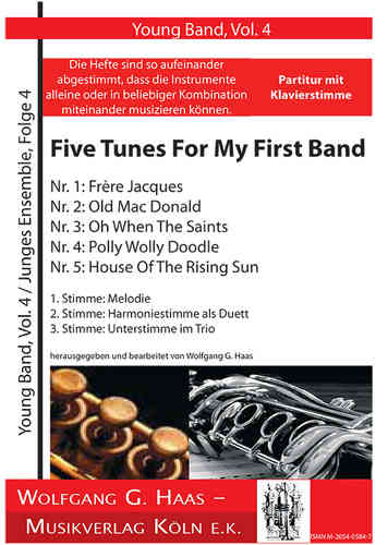 5 Tunes; FIRST BAND Nr.4 (Haas) PARTITUR