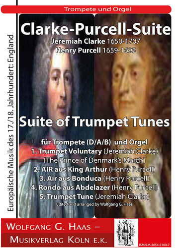 Clarke - Purcell   Suite of Trumpet Tunes  Trompete (D/A/B), Orgel
