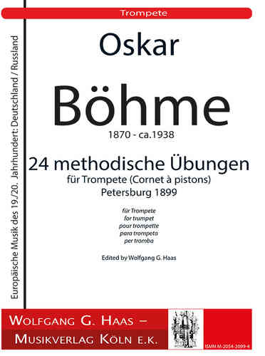Böhme, Oskar 1870 - ca. 1938 24 methodological studies for trumpet op. 20