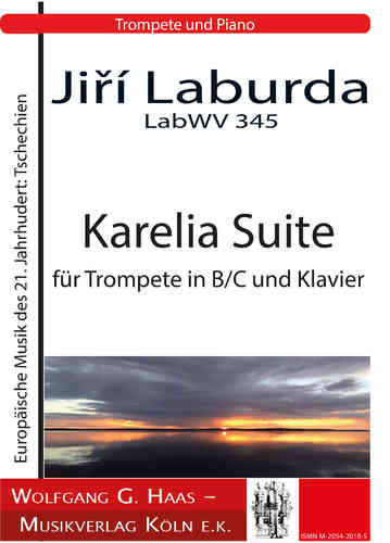 Laburda, Jiří;  Karelia Suite BWV 345 for trumpet in Bb / C and piano