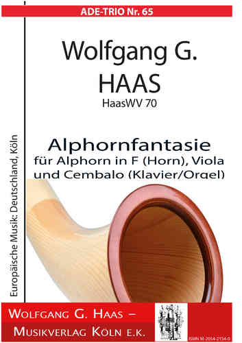 Haas, Wolfgang G .; Alphorn Fantasia for Alphorn in F (horn) and Harpsichord (piano / organ)