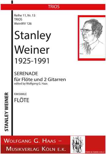 Weiner, Stanley; Serenade for Flute and 2 Guitars WeinWV126