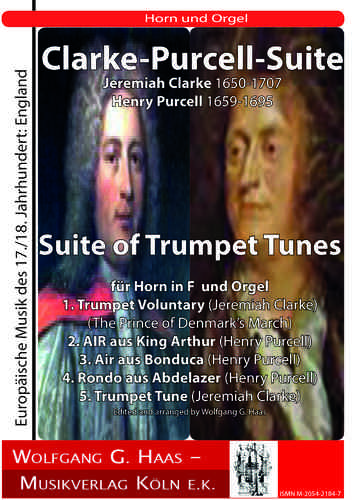 Clarke, Jeremiah 1673c-1707; - Purcell Suite of Trumpet Tunes für Horn in F, Orgel