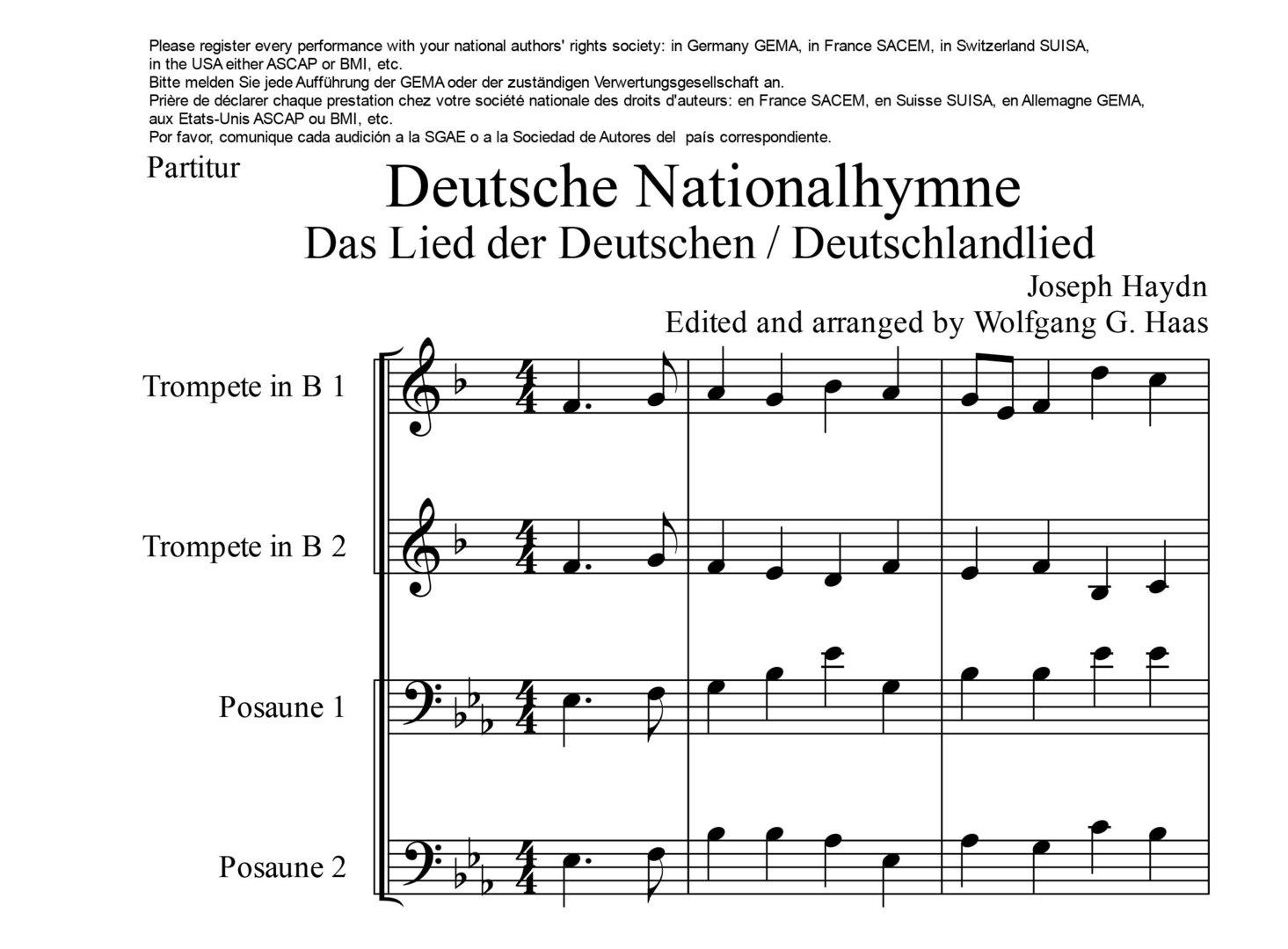Text Deutschlandhymne