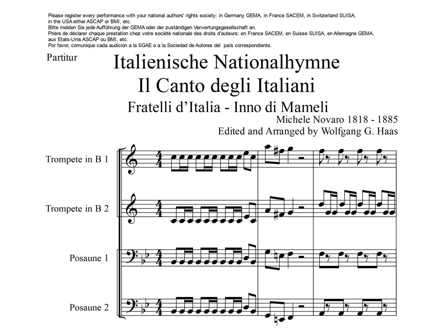 Italien Hymne