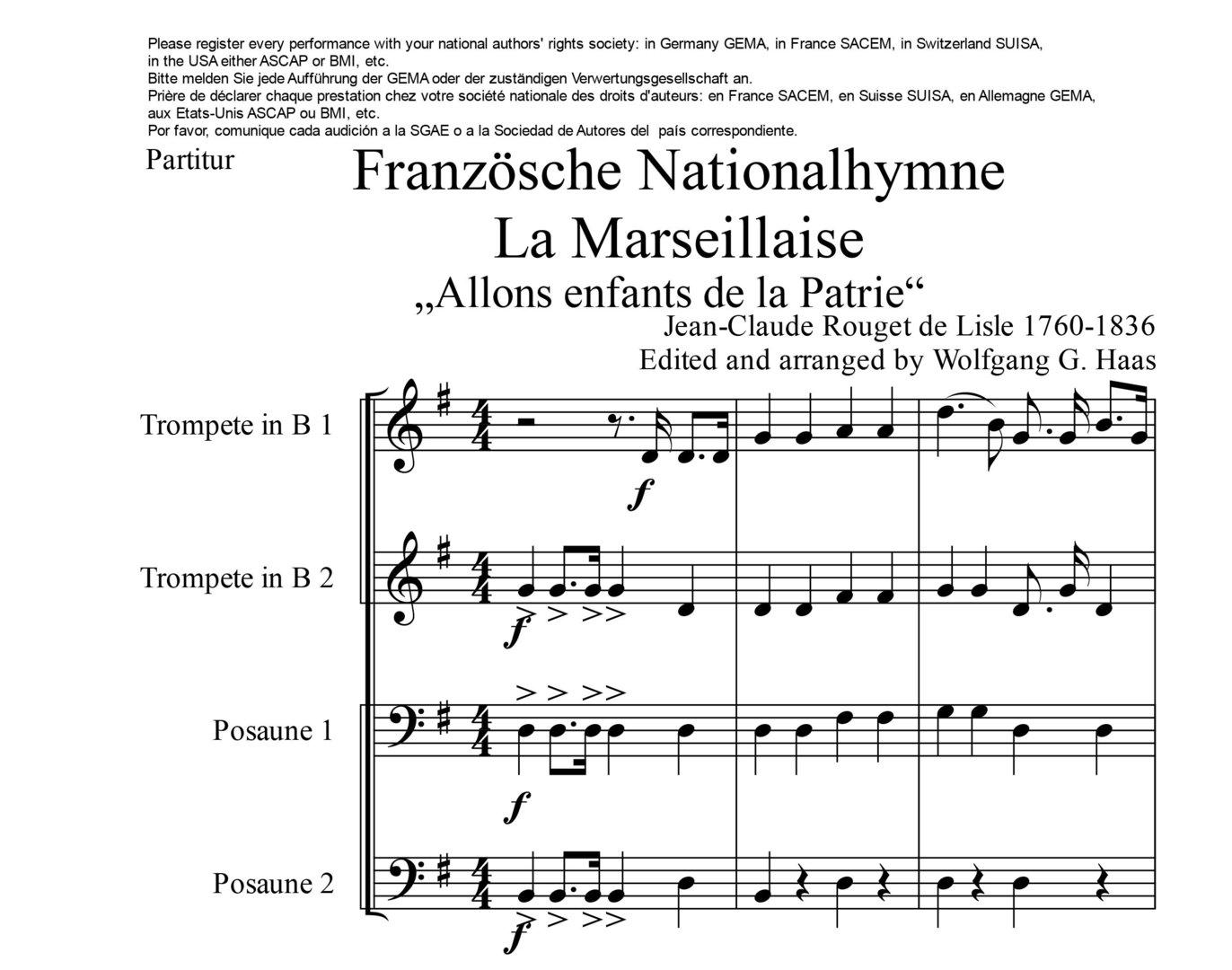Noten In Frankreich