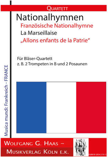 French national anthem La Marseillaise, for wind quartet