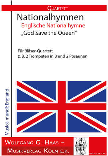 "Hymne national anglais ""God Save the Queen"". Pour le quatuor du vent"