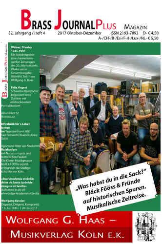 Brass Journal plus; 32. Jahrgang / Heft 3, 2017 Oktober-November, ISSN 2193-7893_E-Book