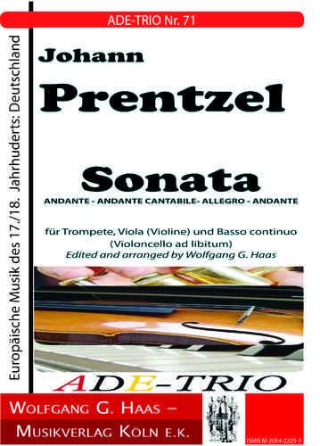 Prentzel, Johann; Sonata, for trumpet, viola (violin) and basso continuo; ADE-TRIO No. 71
