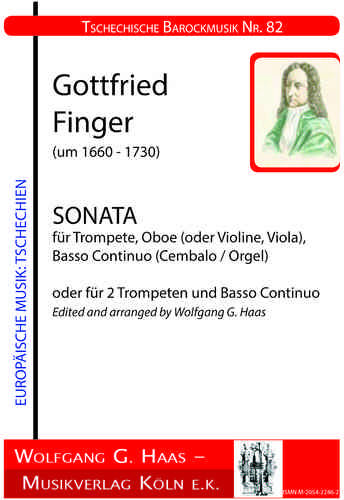 Fingers, Gottfried; Sonata for trumpet, oboe, B.C. / or 2 trumpets and organ