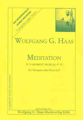 Haas,Wolfgang G.; Meditation; moment musical; HaasWV29 (Grad 2)