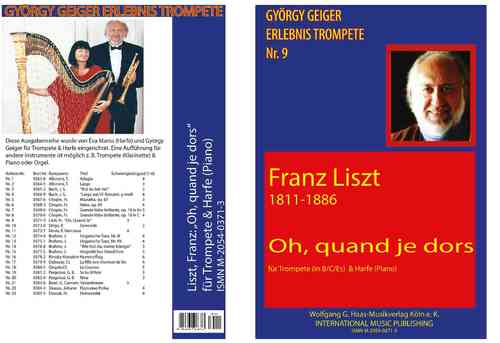 Liszt,Franz 1811-1886; Oh, Quand je dors for Trompete B/C /Es, Harfe (Piano)