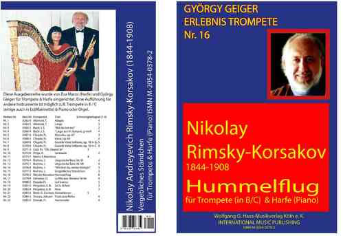 Rimsky-Korsakov, Nikolai 1844-1908; Flight of the Bumblebee for trumpet in C/B/Es and Harp (Piano)