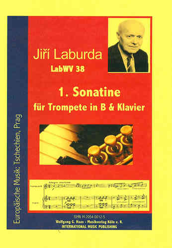 Laburda, Jiří *1931; Sonatina No. 1 for Trumpet in B &; Klavier