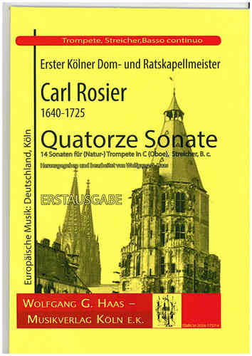 Rosier, Carl 1640-1725; Quatorze Sonate, Partitur