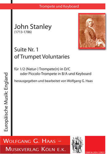 Stanley, John 1713-1788; Suite Nr.1 of Trumpet Voluntaries für Trompete und Orgel
