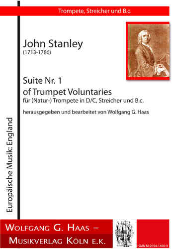 Stanley,John;Suite Nr.1 of Trumpet Voluntaries für (Natur-) Trompete in D/C, Streicher, B.c.