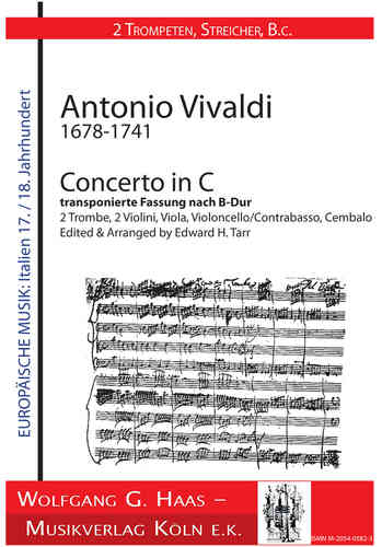 Vivaldi, Antonio 1678-1741 -Concerto In C by 2 Trombe transposed version B-Dur