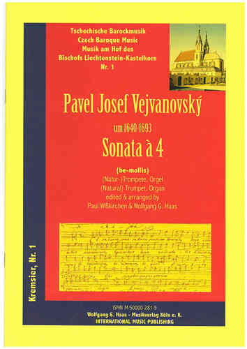 Vejvanovský, Pavel Joseph 1633c-1693 -Sonata Á 4 in G minor for (natural) Trumpet C/B, Piano/Organ