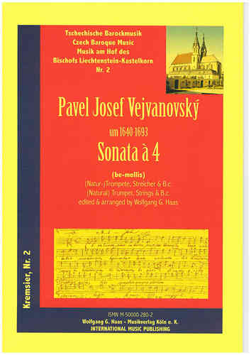 Vejvanovský, Pavel Joseph 1633c-1693 -Sonata Á 4 in G minor for Trumpet, Strings, B.C.