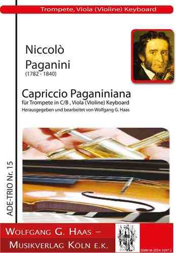 Paganini, Niccolo 1782 -1840 -Capriccio Paganiniana for trumpet, viola (violin) and piano