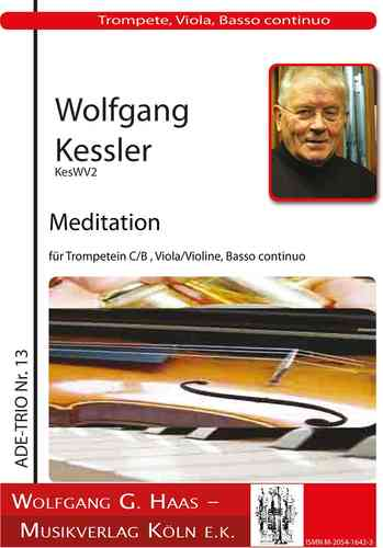 Kessler,Wolfgang *1945 -Adventliche Meditation KesWV2 for Trumpet, Viola (Violin), organ (piano)