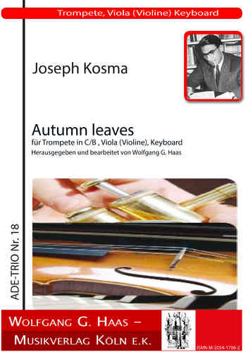 Kosma,Joseph -Autumn leaves, for trumpet in C / B, viola (violin) Harpsichord / Piano