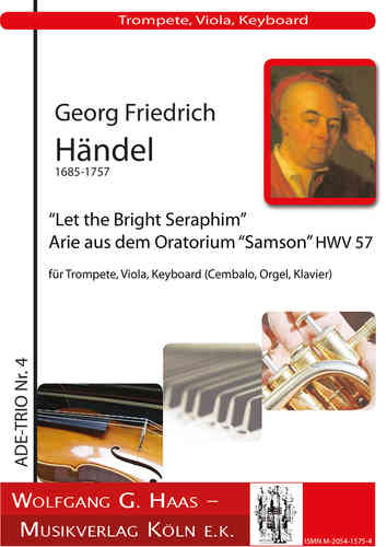 "Händel, Georg Friedrich 1685-1759 -Samson: Let the bright Seraphim: Aria from the oratorio ""Samson"""