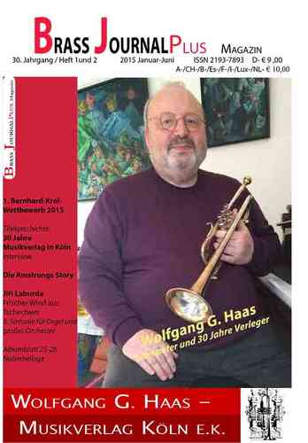 Brass Journal plus, 2015, 30. Jahrgang Heft 1 und 2, ISSN 2193-7893 E-Book