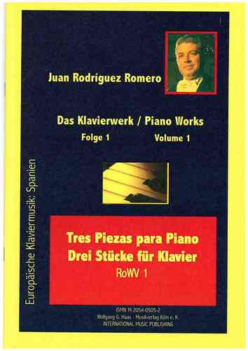 Rodríguez Romero, Juan *1947 -Three Pieces for Piano / Tres Piezas RoDWV1