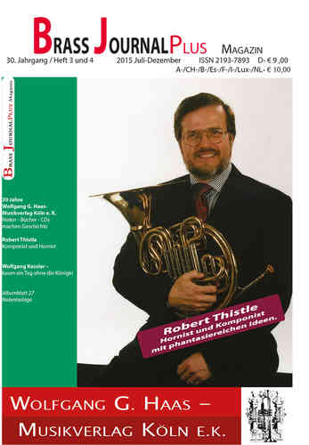 Brass Journal plus, 2015, 30. Jahrgang Heft 3 und 4, ISSN 2193-7893 E-Book