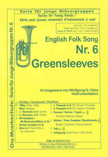 "YOUNG BAND Nr. 6, Anonym,Traditional -English Folk Song ""Greensleeves"";"