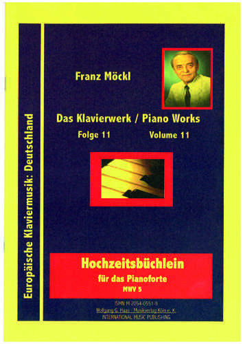 Moeckl, Franz 1925-2014 Wedding booklet for piano