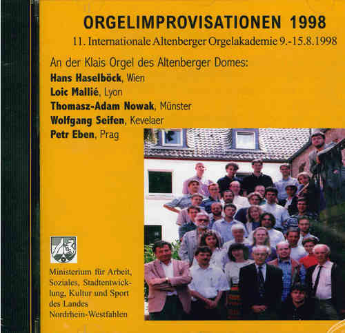 Internationale Altenberger Orgelakademie (11.); Orgelimprovisation 1998