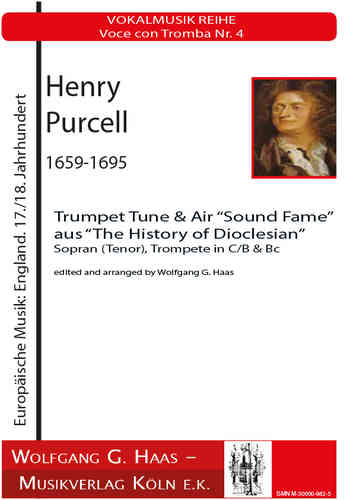 "Henry Purcell. 1659-1695 Trumpet tune & Air ""Sound fame"" Voce con Tromba,Nr. 4"