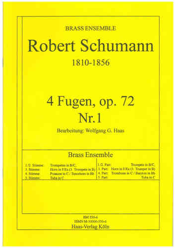 Schumann, Robert; 4 Fugen, op.72,1 Brass Ensemble