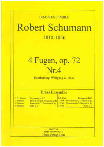 Schumann, Robert 1810-1856; 4 Fugen, op.72,4 Brass Ensemble