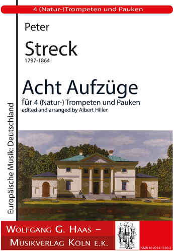 Streck, Peter 1797-1864; 8 Prozessionals for 4 Natur. trumpets, timpani (Hiller)