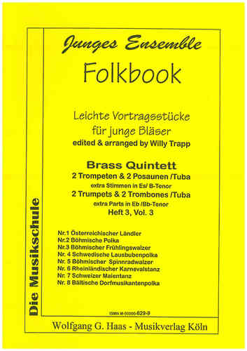 Trapp, Willy 1923-2013; Folkbook; Brass quartet