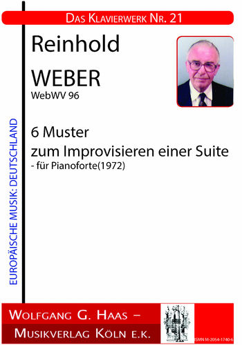 Weber, Reinhold 1927-2013 Six patterns to improvise a suite WebWV 96